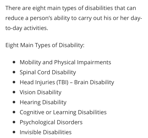 ada types of disability